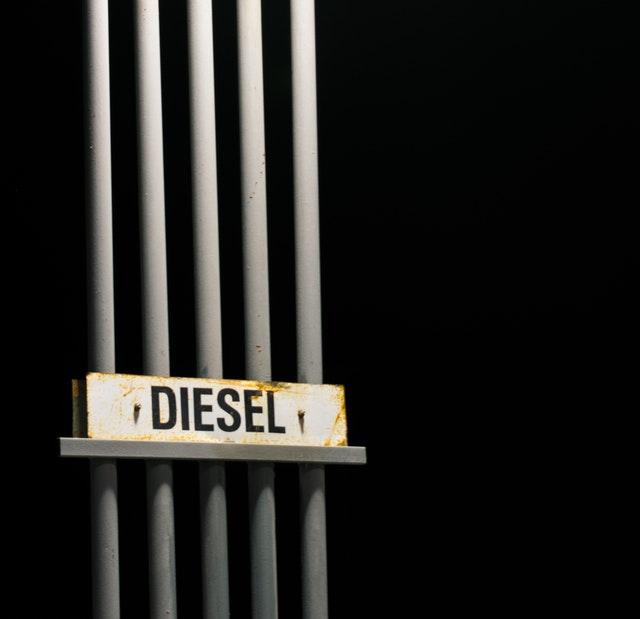 Blauwe diesel